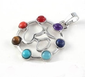 Picture of Pendente Cristal Chakras - Om