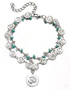 Picture of Pulseira Cristal Turquesa - Om